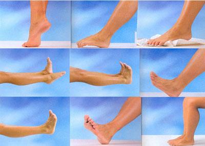 cvičení chodidel