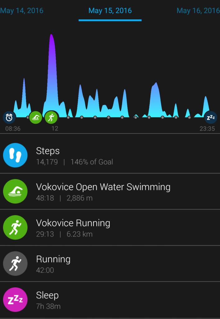 Garmin vivofit3 - plavání, běh, kolo