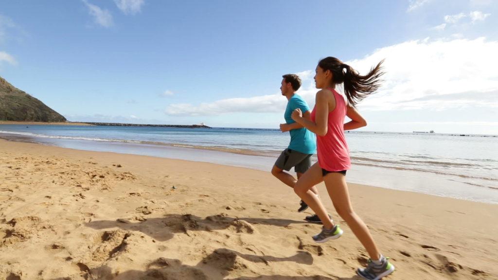 běh v písku