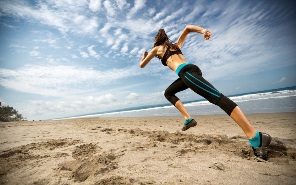 trénink v písku